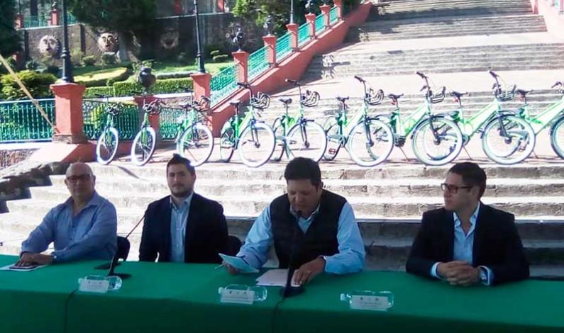Pone Metepec en operación sistema público de bicicletas
