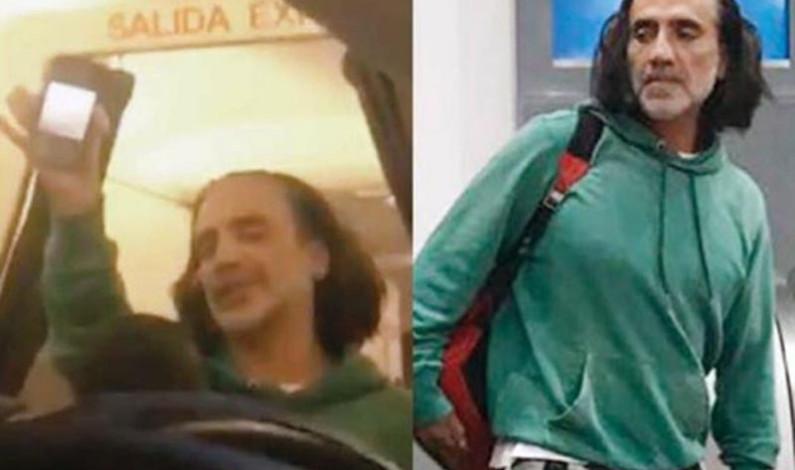 Por borracho, bajan a Alejandro Fernández de un avión