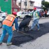 Intensifican trabajos de bacheo en distintas zonas de Toluca