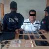 Sorprenden sujeto con celulares presuntamente robados
