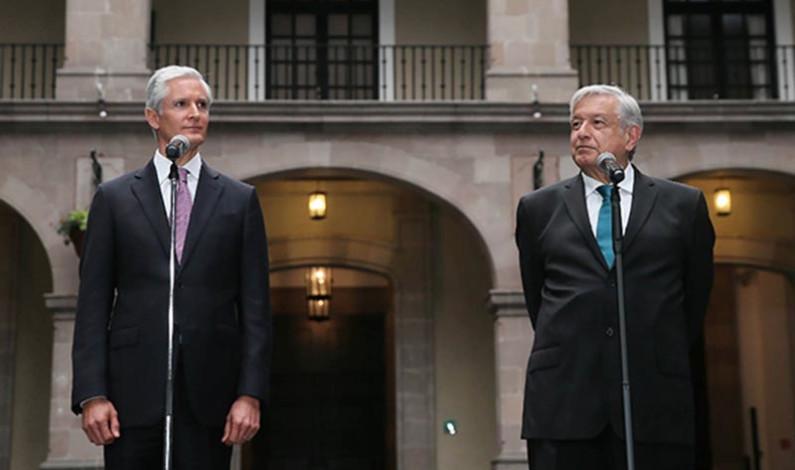 """""""No hay pleito"""" con Del Mazo, aclara López Obrador"""
