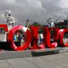 Devela Toluca letras monumentales y bienvenida de catrinas