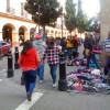 Tapizado centro histórico de Toluca de vendedores ambulantes