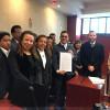 Recibe Uribe Navarrete la Toma de Nota que lo reconoce como líder del Sindicato de Maestros