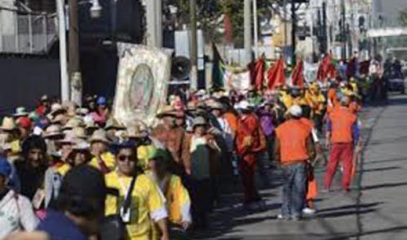 Parten más de 40 mil peregrinos mexiquenses a la Basílica de Guadalupe