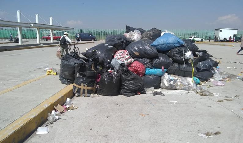 Acumulan más de 60 toneladas de basura en mercado Aviación-Autopan