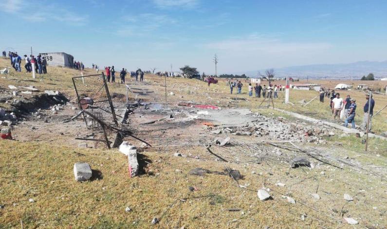 Deja un muerto explosión de polvorín en Almoloya de Juárez