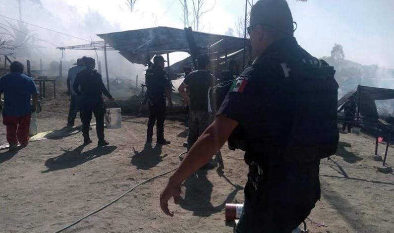 Estallan polvorines en Chimalhuacán; sin lesionados