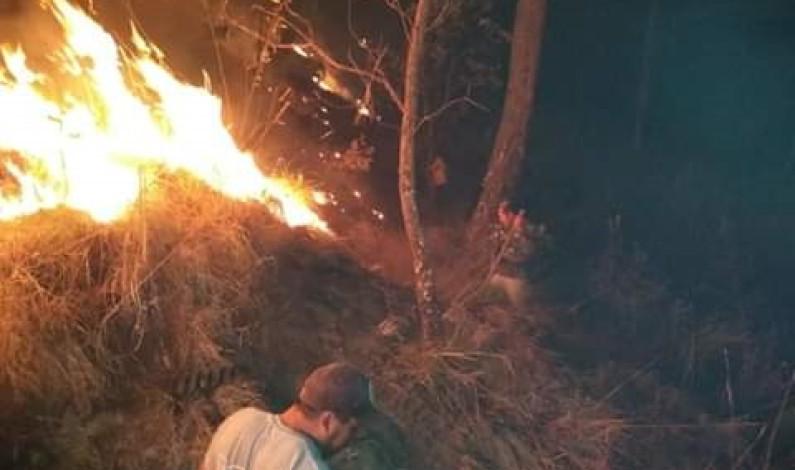 Fuerte incendio afecta bosques de Valle de Bravo