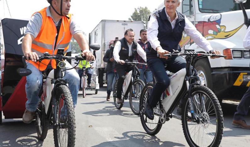 Regulariza Del Mazo transporte público en bicicletas y motos