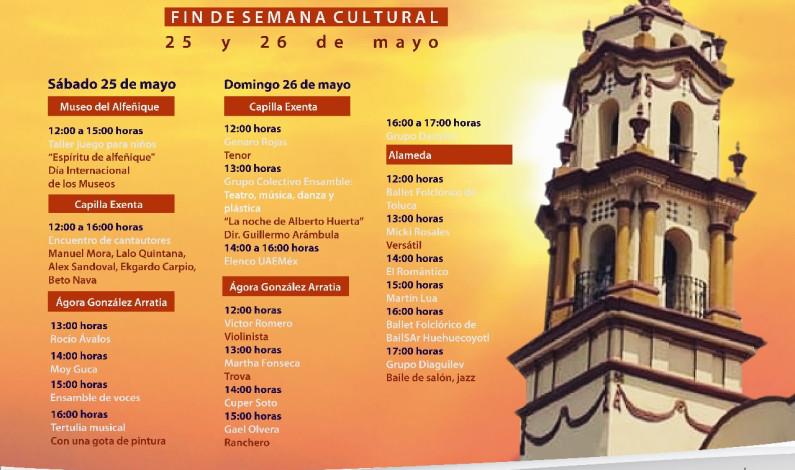Ofrece Toluca amplia y variada cartelera cultural este fin de semana
