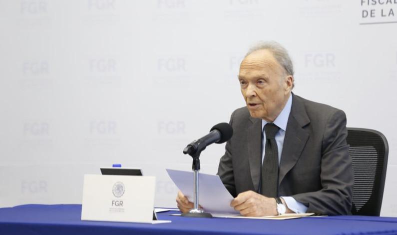 Presenta Gertz Manero informe de 100 días al frente de la FGR