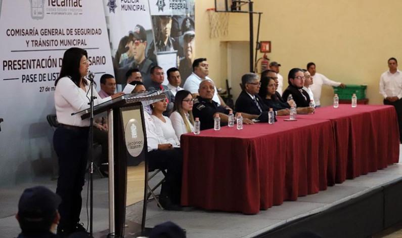 Se acabaron los moches en la policía de Tecámac, advierte alcaldesa