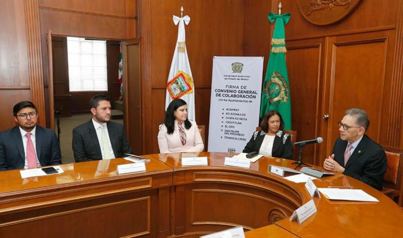 Impulsa UAEM desarrollo de municipios del norte mexiquense