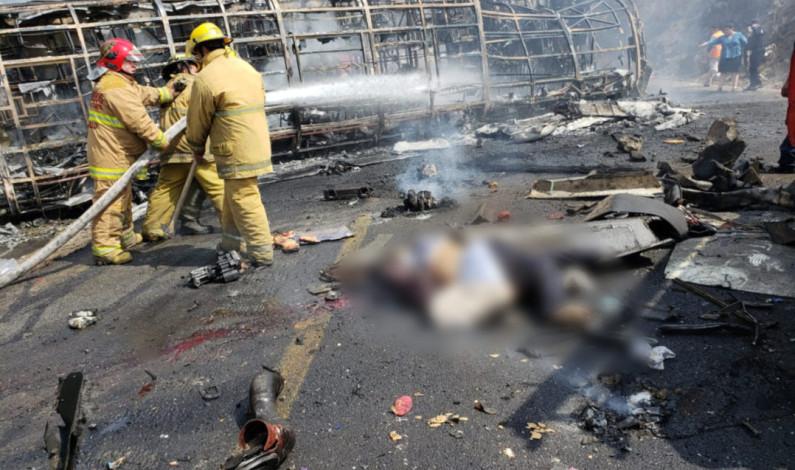 Accidente en la autopista Veracruz – Puebla deja más de 20 muertos