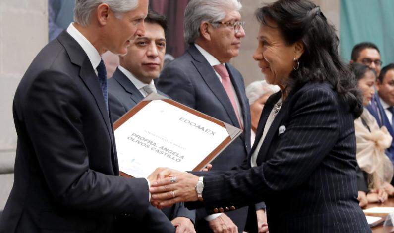 Magisterio mexiquense es el mejor del país: Del Mazo