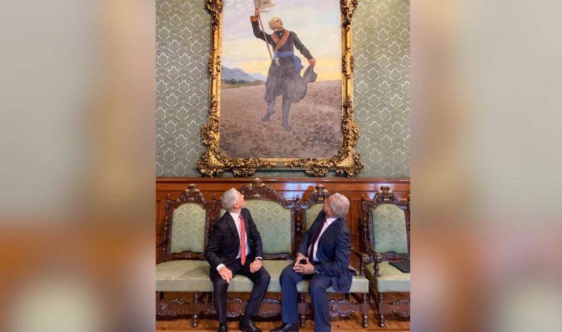 Luego de ofrecer una disculpa pública AMLO se reúne con Alfredo del Mazo