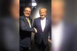 Estrechan la mano Ebrard y Trump en la Cumbre del G-20