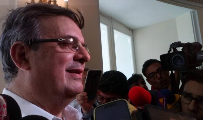"""""""No queremos que migrantes crucen por México"""": Marcelo Ebrard"""
