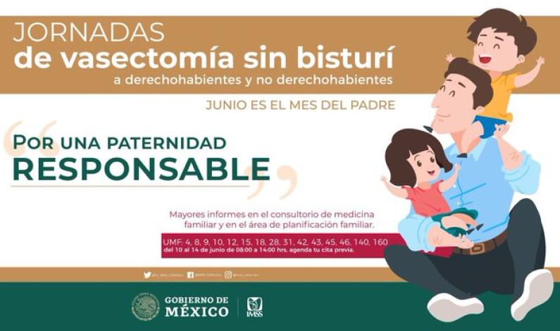 Regala IMSS vasectomía por el Día del Padre