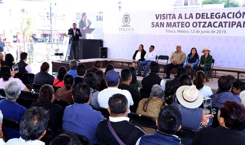 Tercer día consecutivo de gira de Juan Rodolfo por comunidades de Toluca