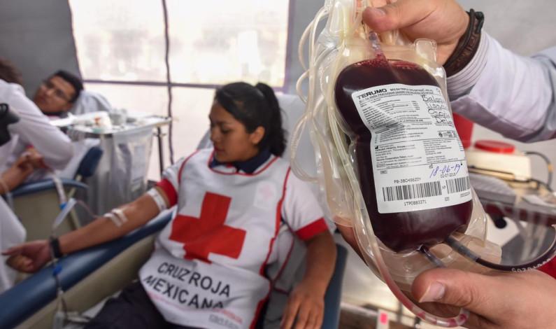 Todo un éxito el maratón de donación voluntaria de sangre de Cruz Roja Metepec