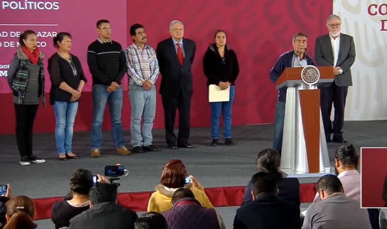 Libera gobierno de AMLO presos políticos del Estado de México