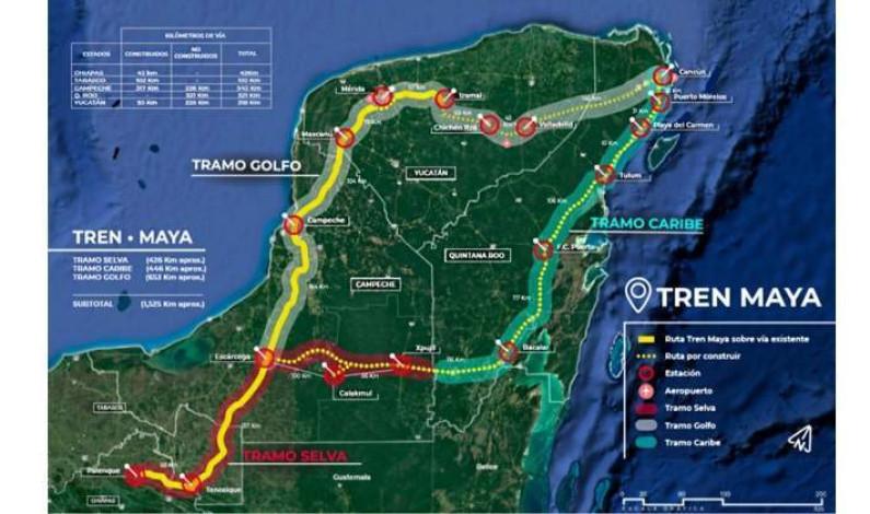 Recortan ruta del Tren Maya