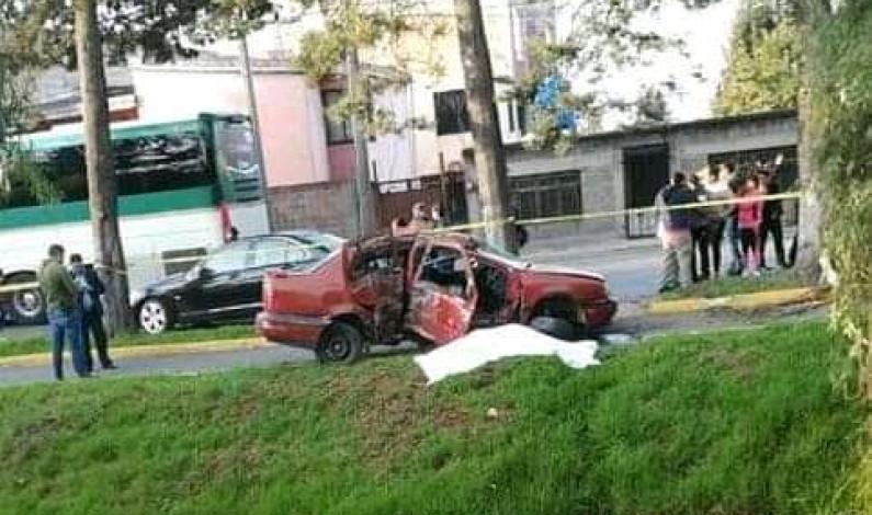 Muere mujer en accidente automovilístico sobre Paseo Tollocan