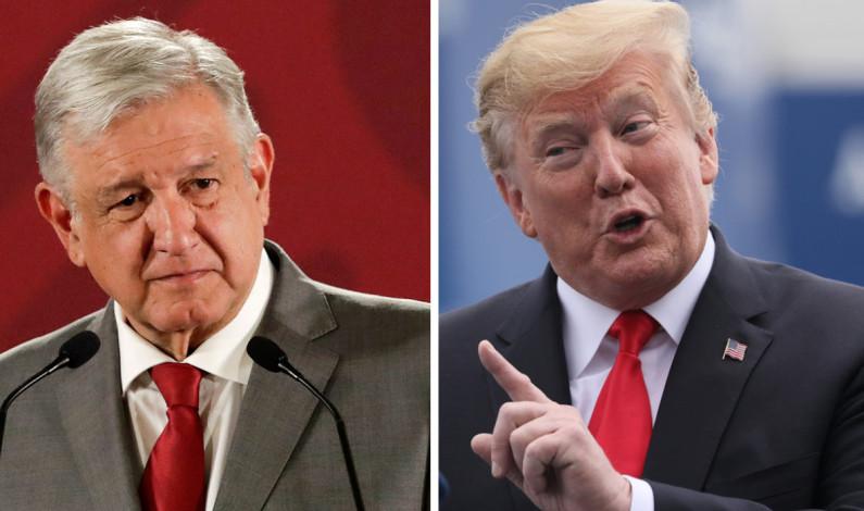 Felicita Donald Trump a AMLO por ratificación del T – MEC