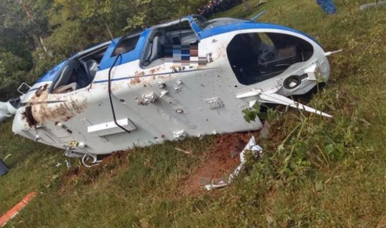Investigan caída de helicóptero en Sultepec