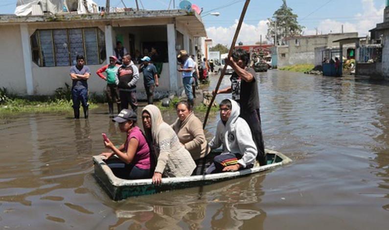 Un millón de mexiquenses en riesgo por inundaciones