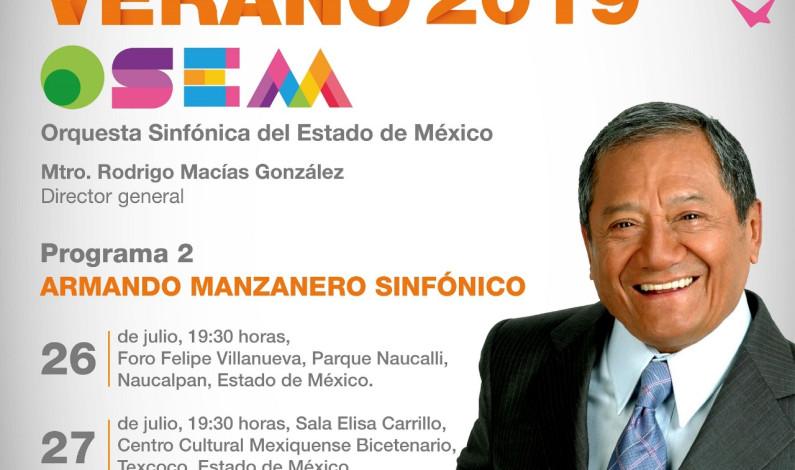 Cantará Armando Manzanero con la Orquesta Sinfónica del Estado de México