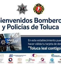 Descuentos del 15 al 30% brindarán negocios a policías y bomberos de Toluca