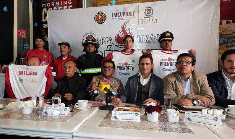 Convocan a correr a favor de los Bomberos de Toluca