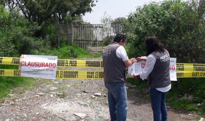 Clausura Propaem siete tiraderos de cascajo en Naucalpan