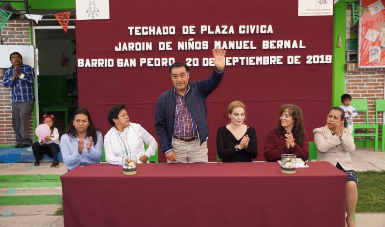 Atiende infraestructura escolar el ayuntamiento de Almoloya de Juárez