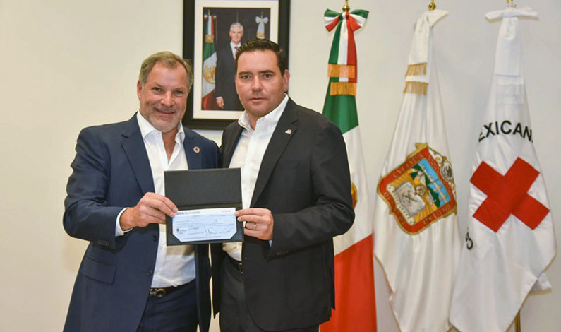 Recibe Cruz Roja donativo del sector educativo estatal