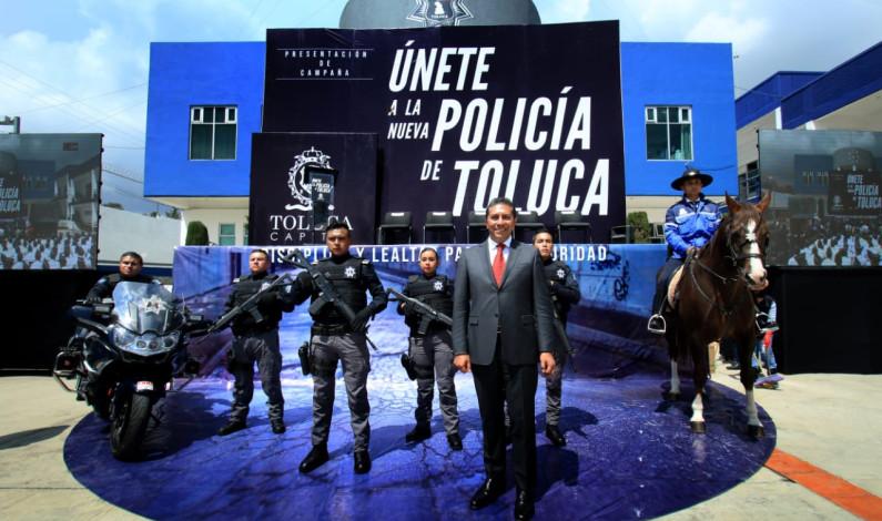 Llama Juan Rodolfo a unirse a la Nueva Policía de Toluca
