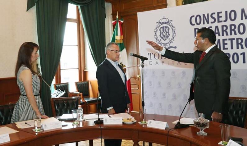 Instala Toluca Consejo Municipal de Desarrollo Urbano y Metropolitano