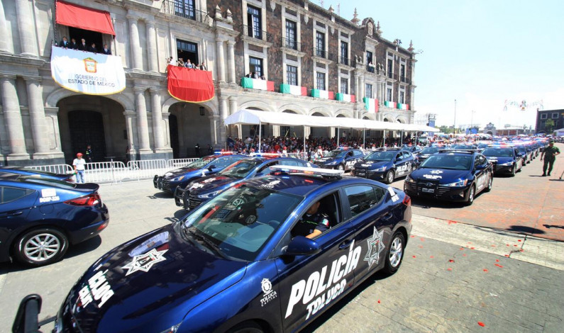 Se lucen las nuevas patrullas de Toluca en el desfile de la Independencia