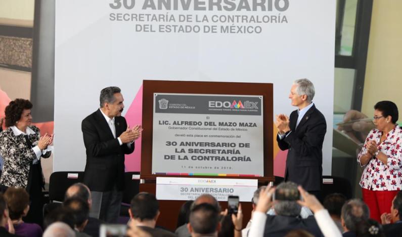Celebran 30 años de lucha anticorrupción en Edomex