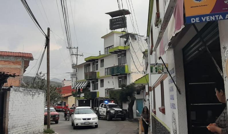 Localizan hombre sin vida en habitación de hotel en Tejupilco