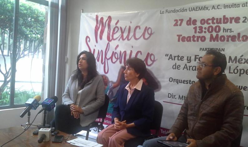 Invita Fundación UAEMex a concierto México Sinfónico