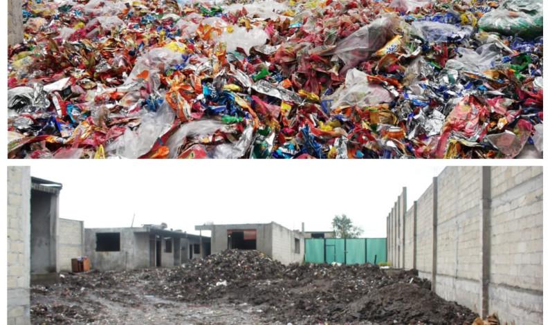 Limpian predio invadido por más de 15 toneladas  de basura