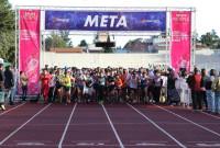 Corren en Metepec a favor de la lucha contra el cáncer de mama