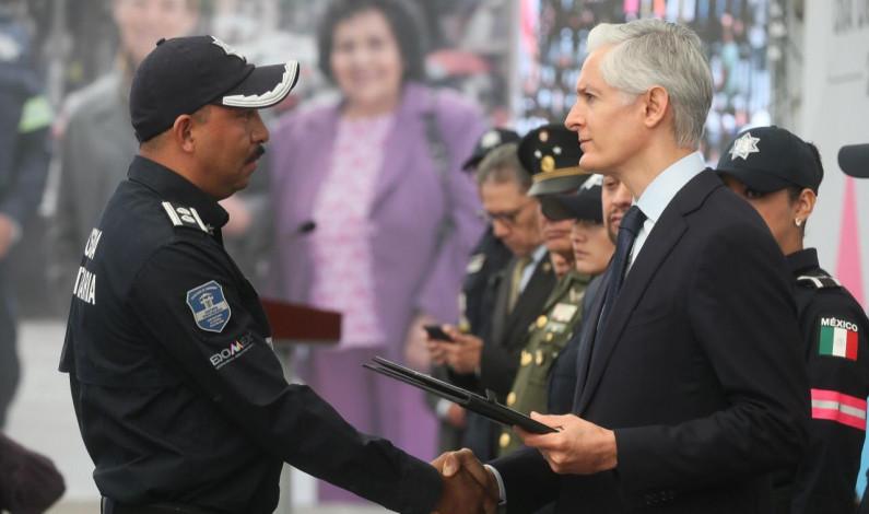 Reconocen esfuerzo de policías mexiquenses