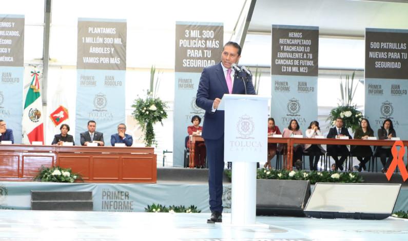 Hay en Toluca gobierno fuerte, firme y experimentado