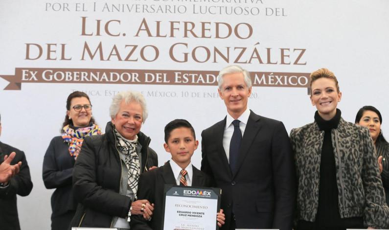 Recuerdan a Don Alfredo del Mazo Maza en primer aniversario luctuoso