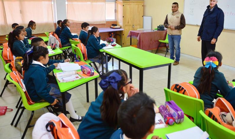 Recuperan escuela a 28 meses de que el sismo la destruyó
